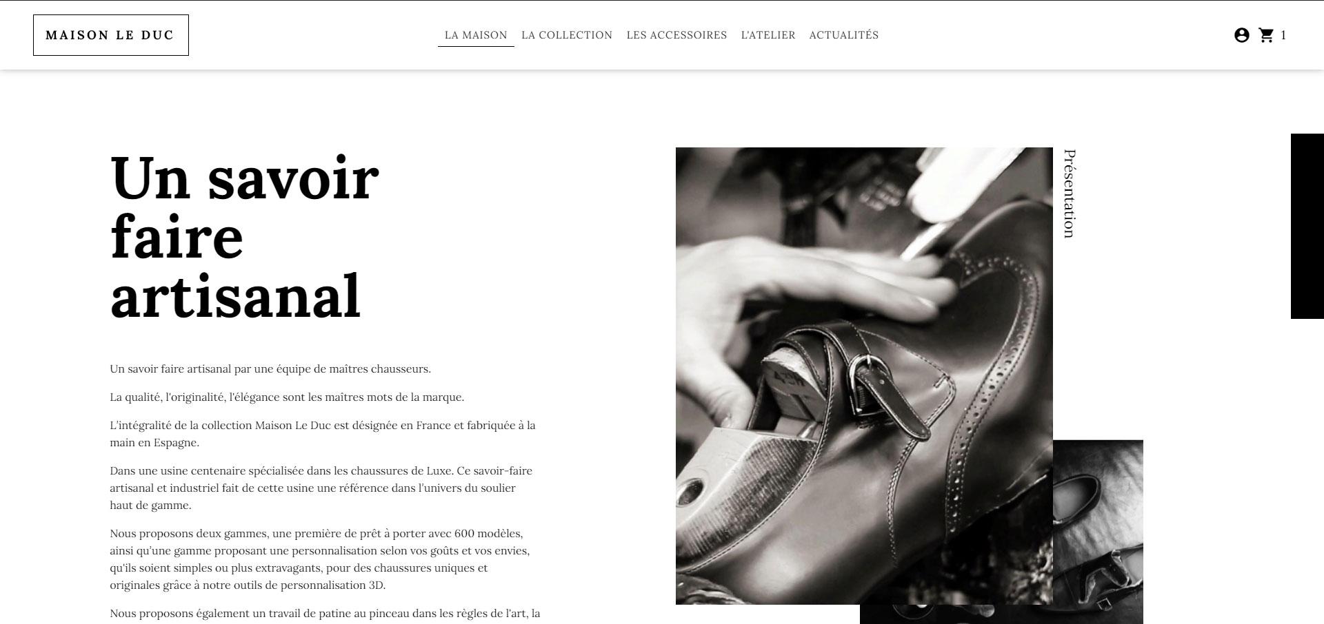 Maison Le Duc - Vente en ligne de chaussures de luxe de fabrication artisanale