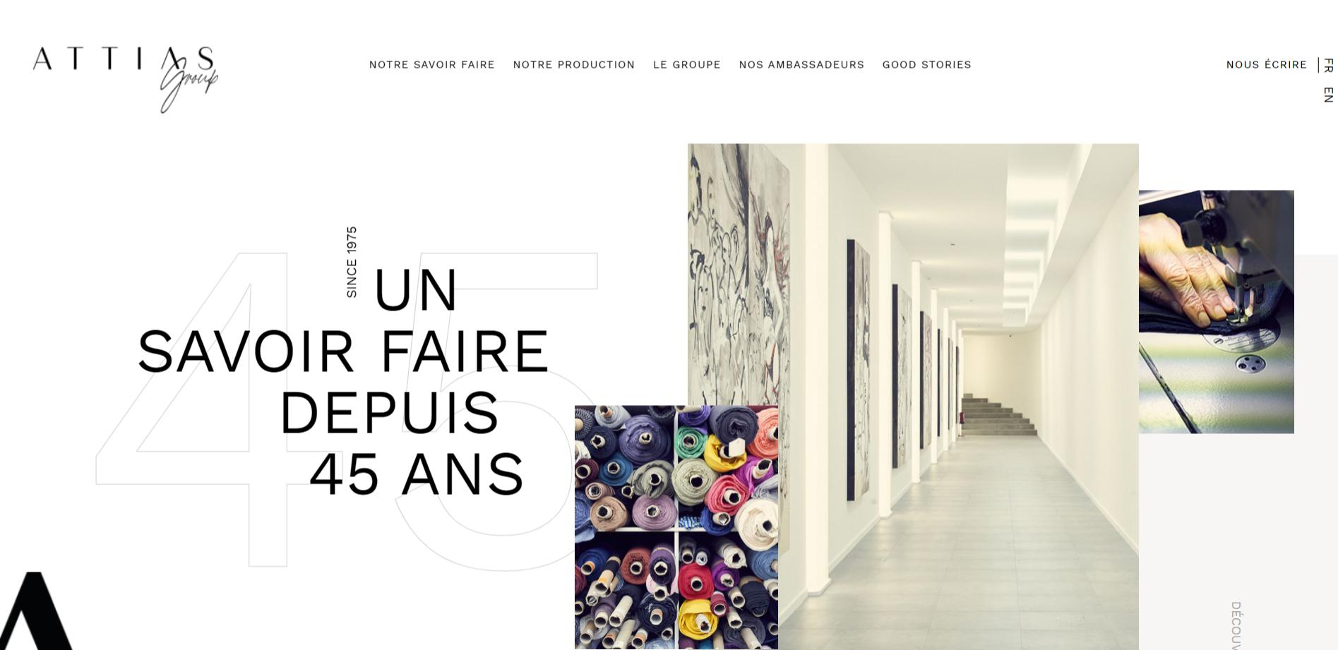 Fabricant et fournisseur de vêtements pour l'industrie de la mode - Attias Group