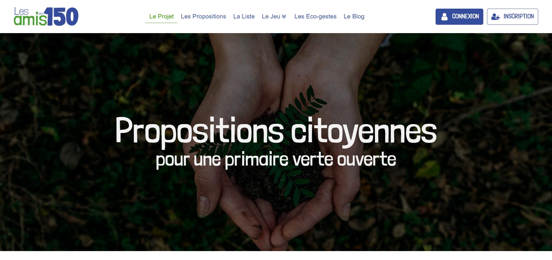 Les amis des 150 propositions citoyennes pour une primaire de l écologie 2021 ouverte