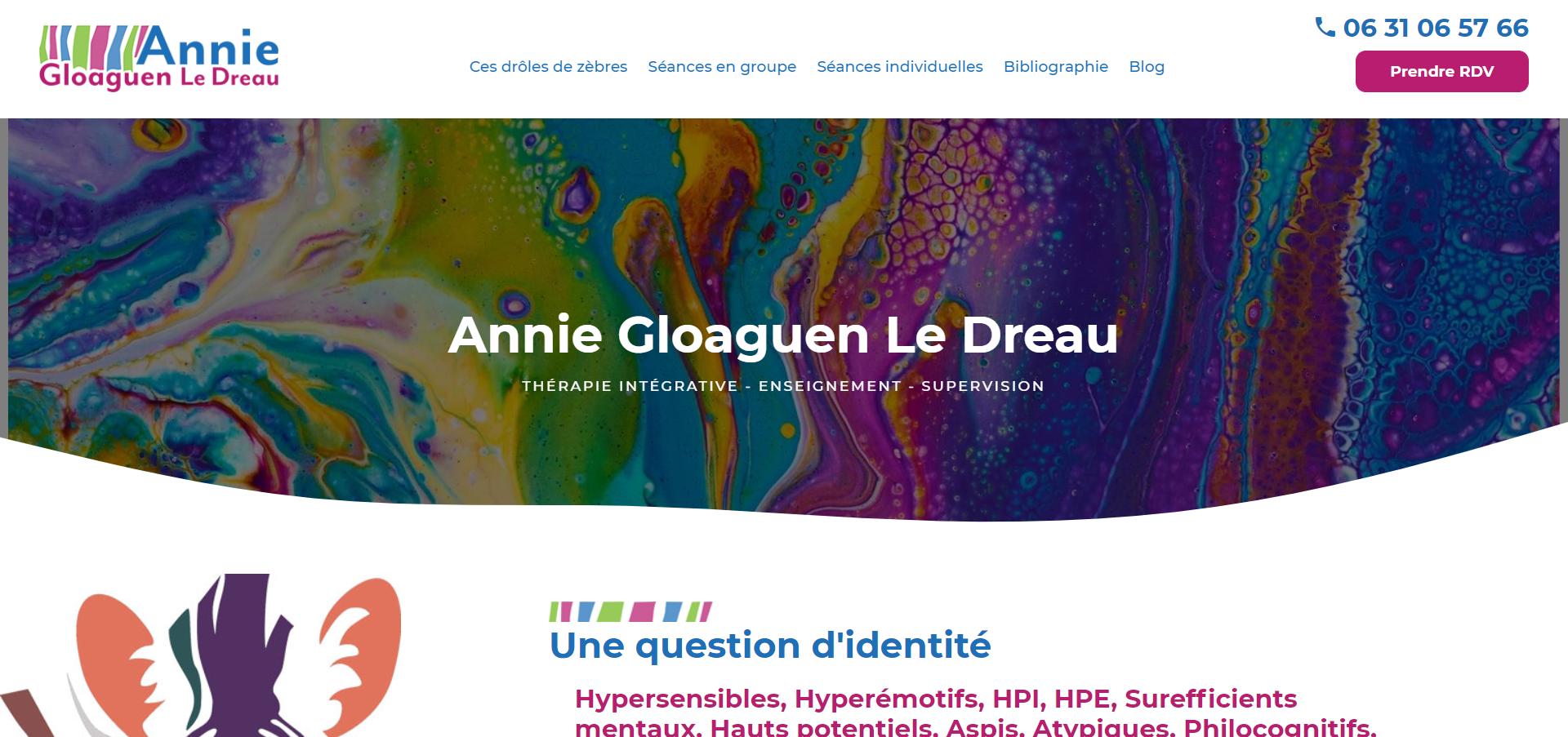 Annie Gloaguen Le Dreau psychothérapeute pour therapie intégrative