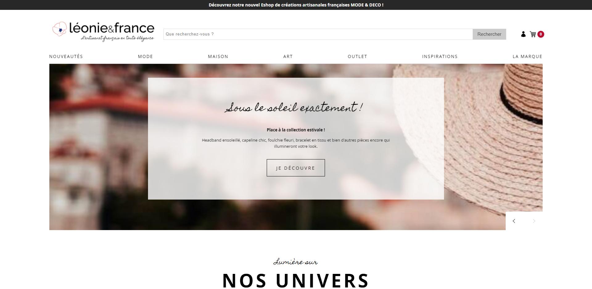 logo et site e commerce artisanat dans le Finistère