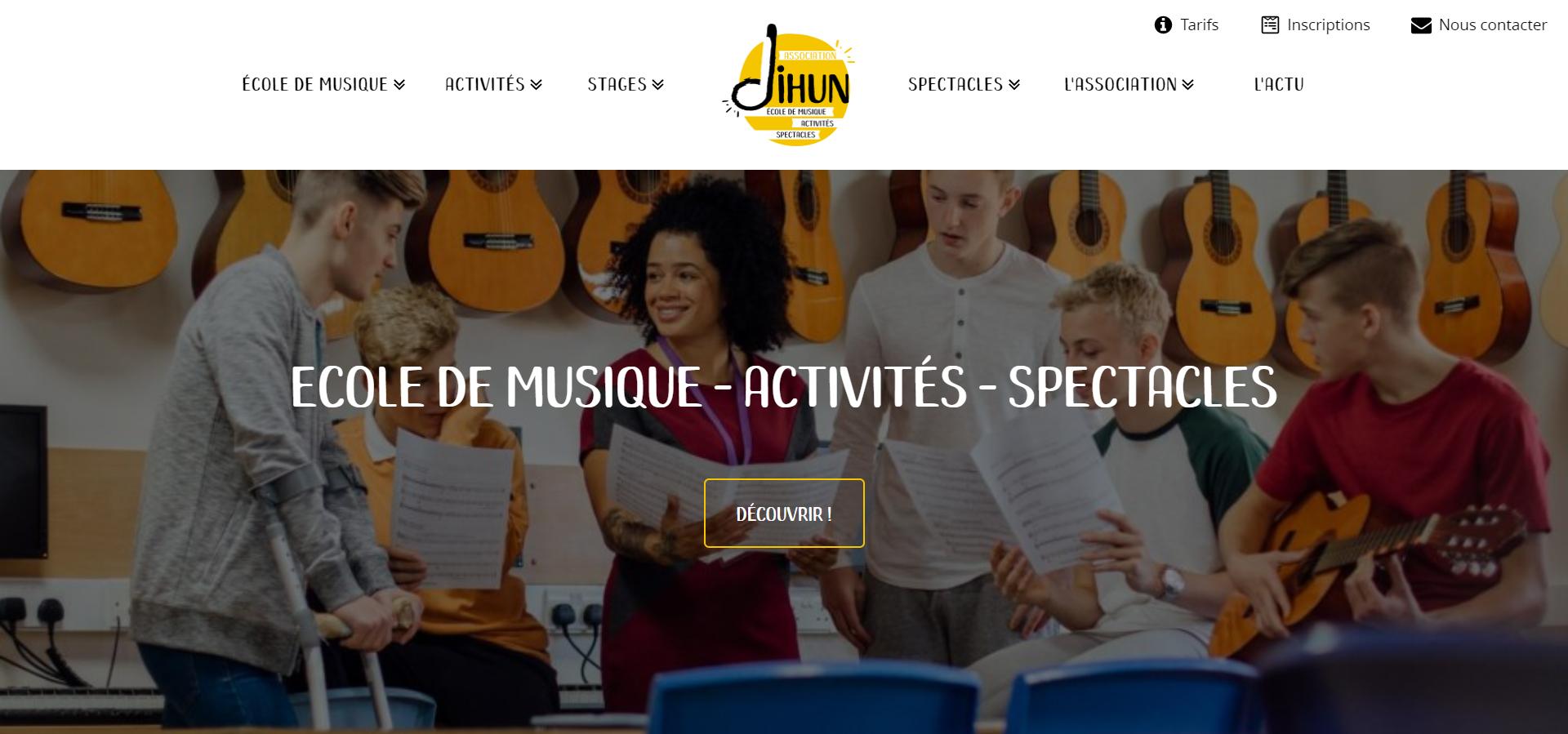 création d'un site web pour Dihun Association Socioculturelle