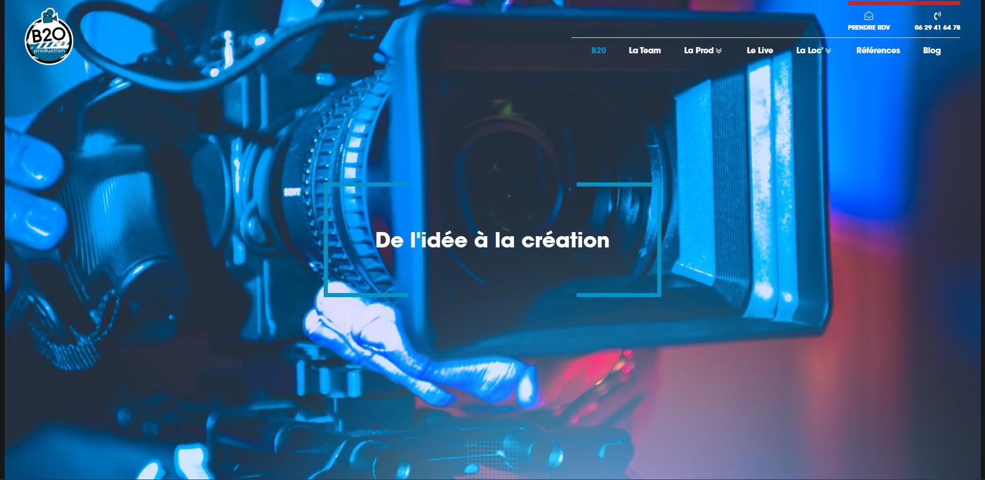 site internet pour Société De Production Audiovisuelle à Quimper B20 Production